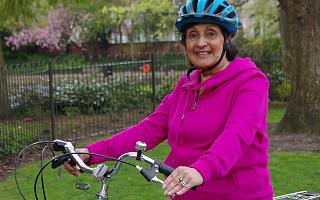 Former doctor Kishori Agrawal started cycling again after the Big Bike Revival in 2017