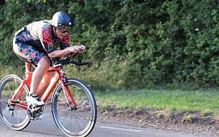 Mel on her racing bike