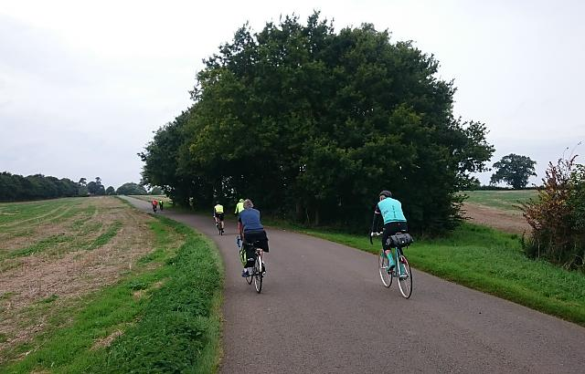 CTC Northampton cycling near Althorp House