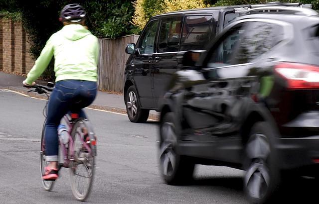 Still from Cycling UK's Close Pass virtual reality film