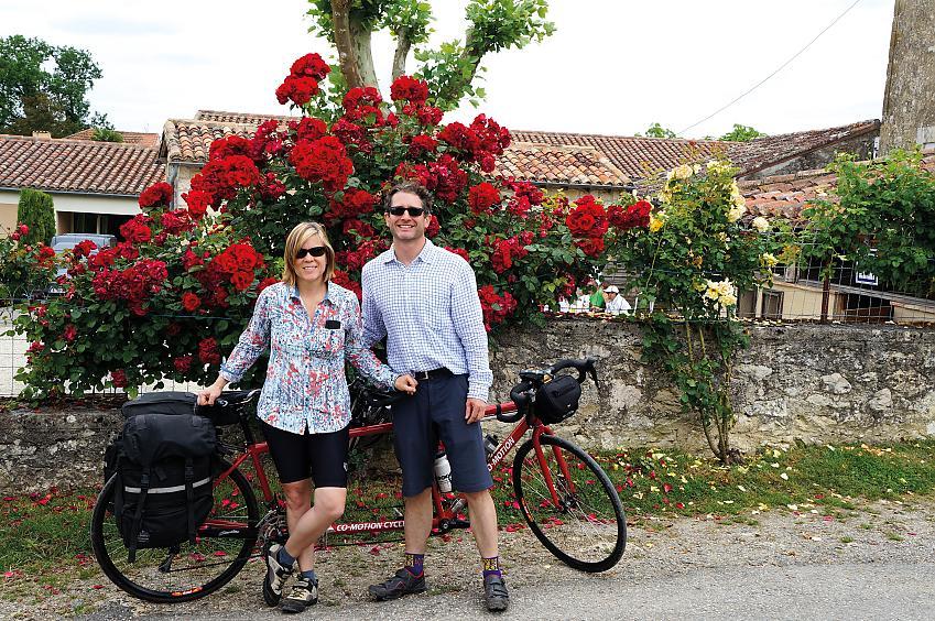 Lynda and Patrick Walsh in Larressingle