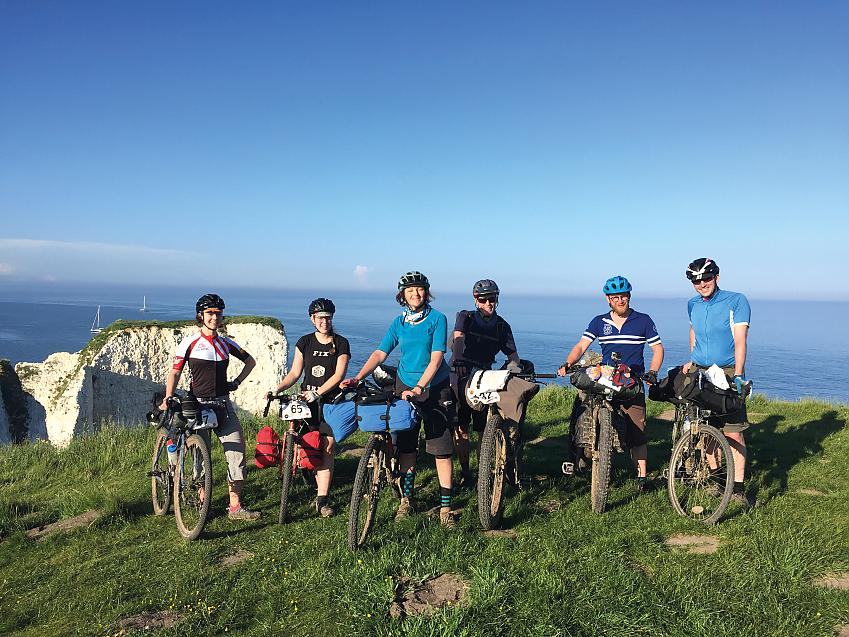 Cycling UK and friends at the top of Old Harry Rocks
