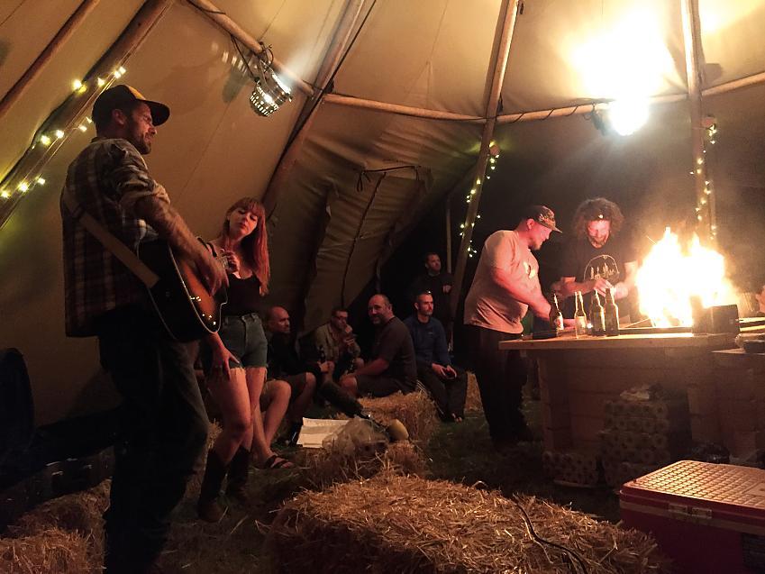 Evening festivities at the Gravel Dash