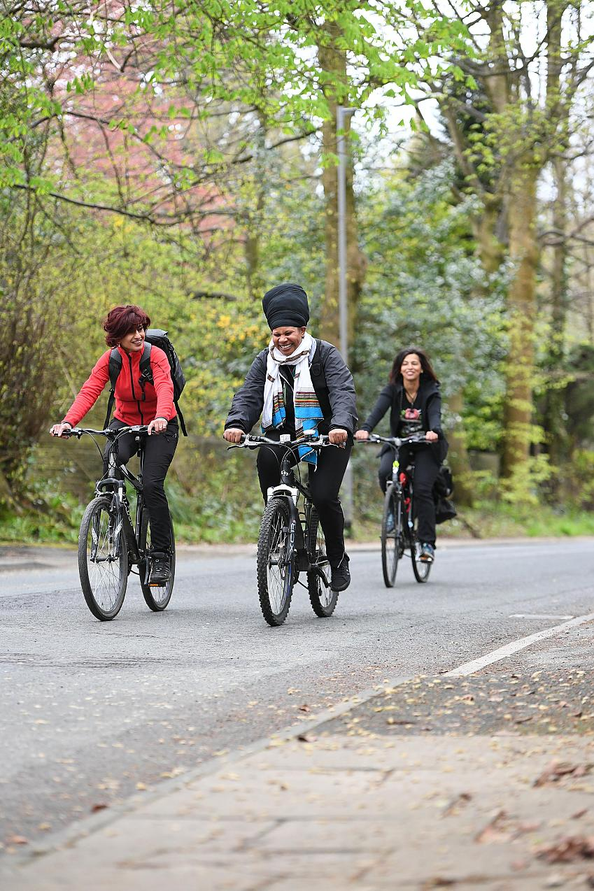Cycling UK is actively promoting women riding bikes