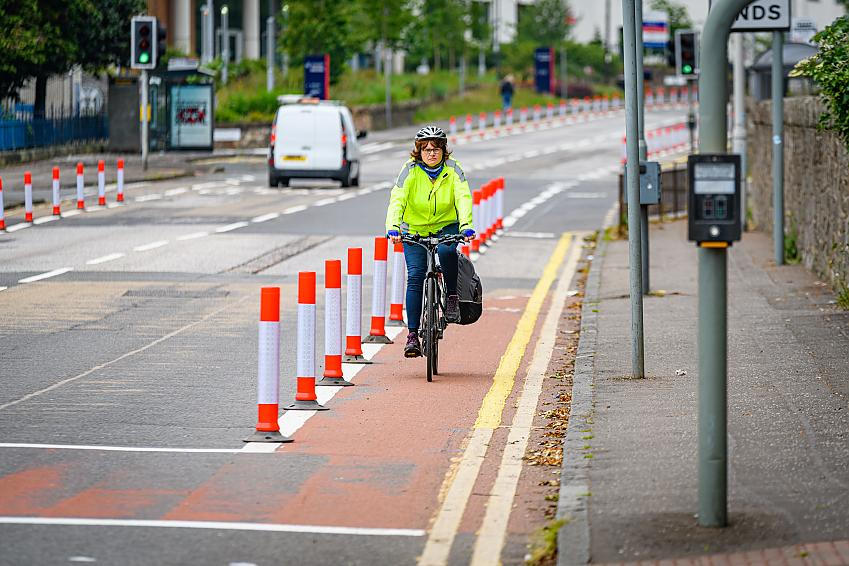 Pop-up bikes lanes have been quickly erected in some cities to support cycling