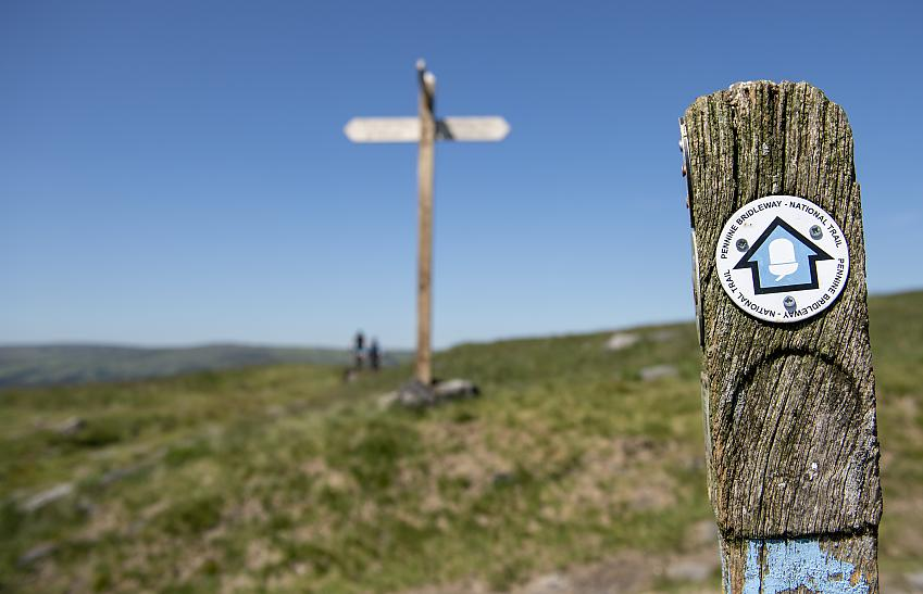 Sign for Pennine Bridleway National Trail