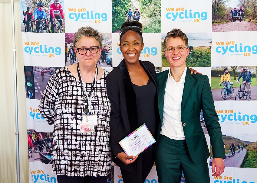 Baroness Barker, Angellica Bell and Isla Rowntree