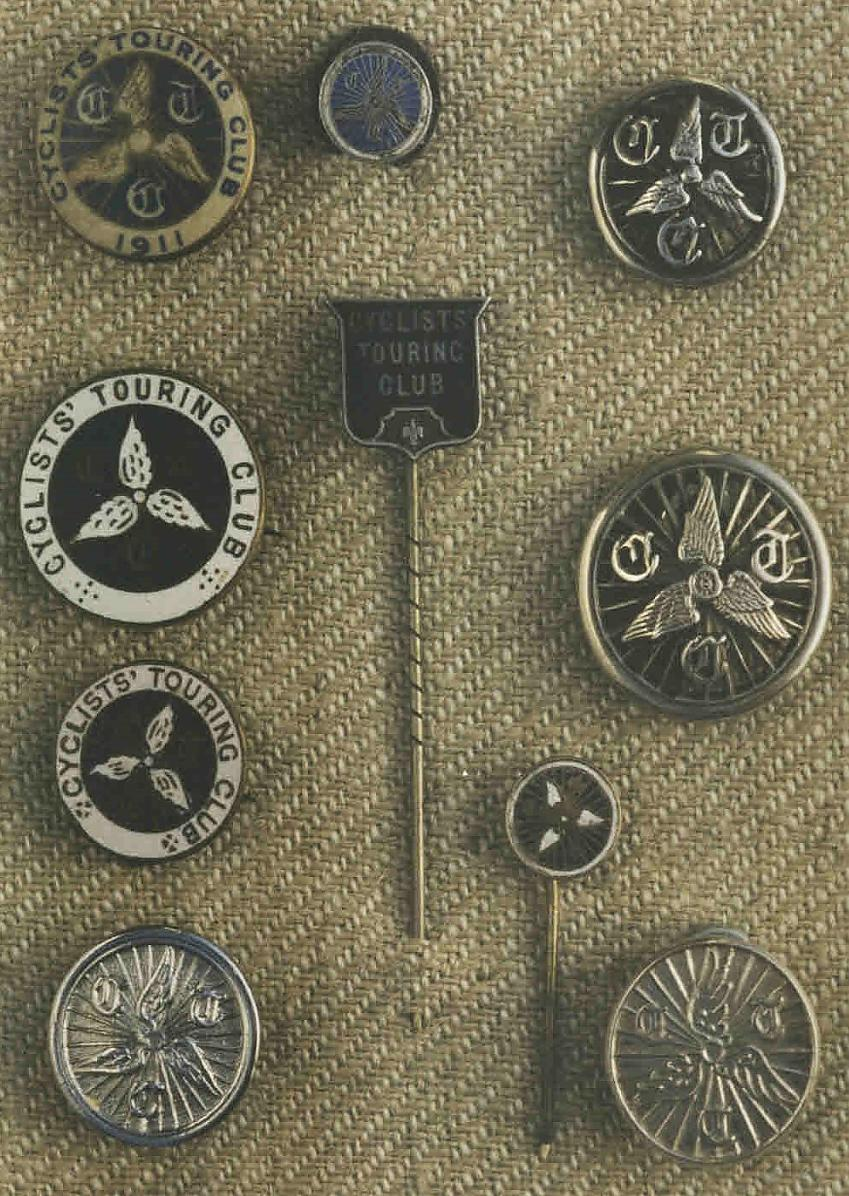 Selection of CTC badges from 1878 to 1950