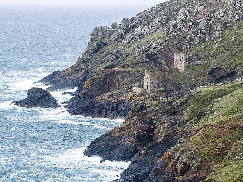 Mine on Cornish coast