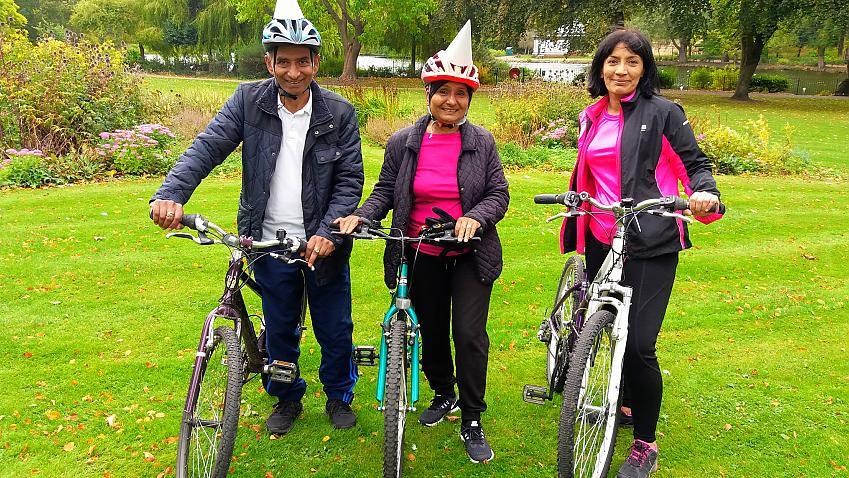 Pravin Patel, Madhu Patel and Narinder Kaur