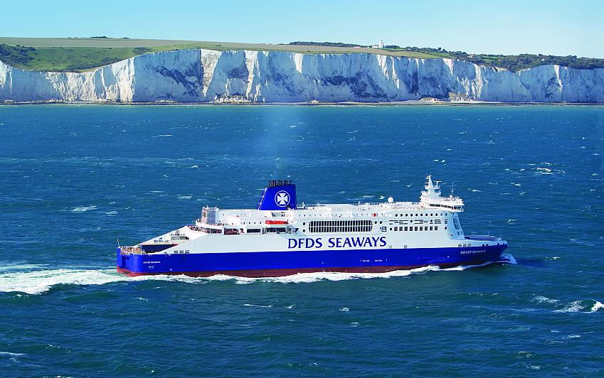 DFDS Seaways on its way from Dover