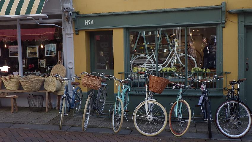 Bikes outside a shop