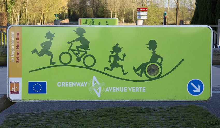 Avenue Verte sign
