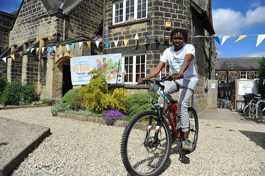 A Big Bike Revival Cyclist
