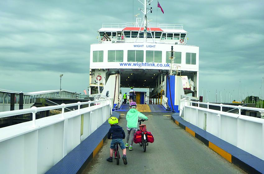 Boarding the ferry to Yarmouth