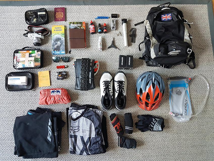 Bike first-aid kit, human first-aid kit, camera, one change of clothes, and an up-to-date map; it all went in one 25L pack