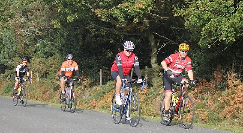 Riders on the Gridiron 100. Photo by Mike Walsh, Wessex Cycling