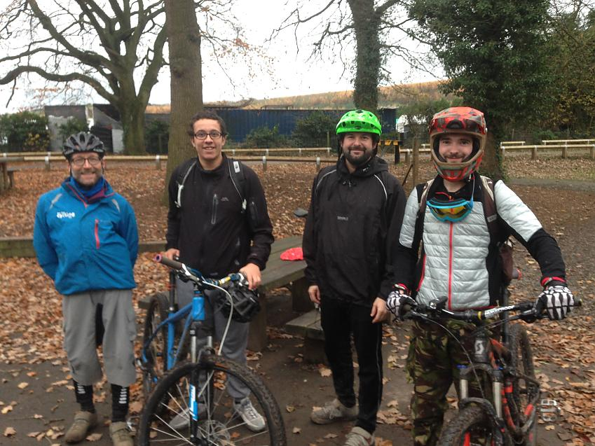 Ed taking part in Cycling UK MTB Leader Training
