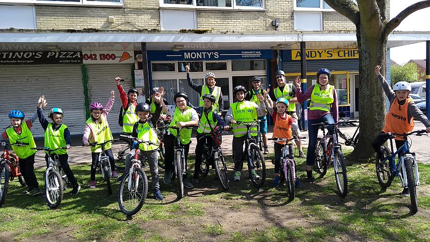 Some of Monty's Bike Hub's young riders