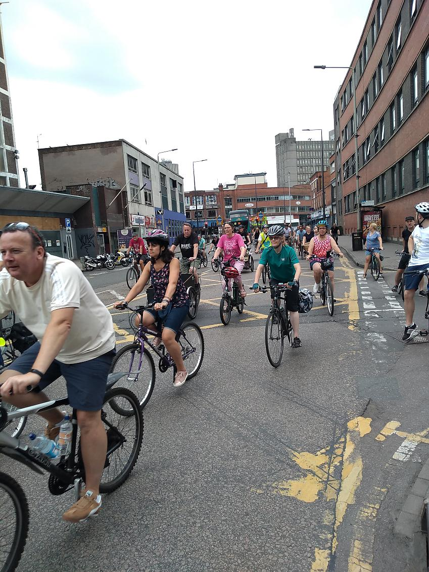 The critical mass ride through Leicester attracted cyclists from across the city