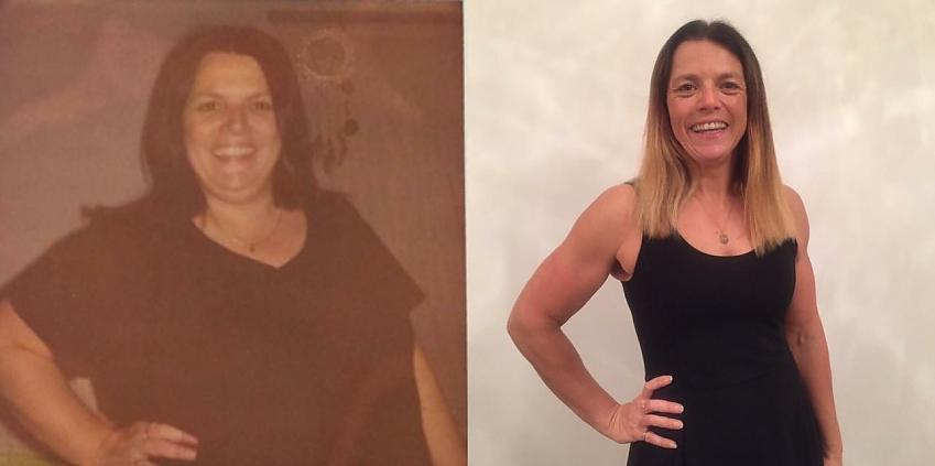 Mel before and after she lost weight