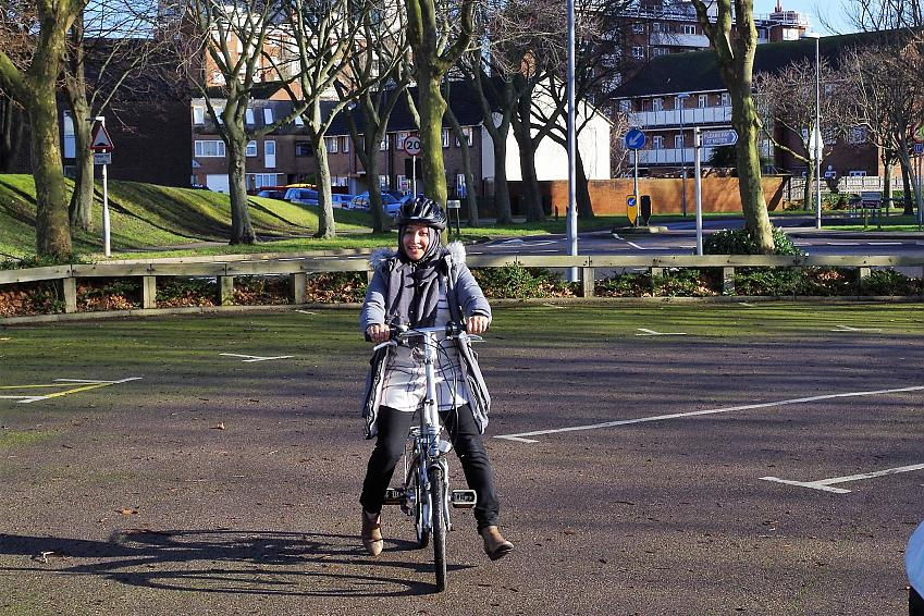 Khaleda gets to grips with the Brompton