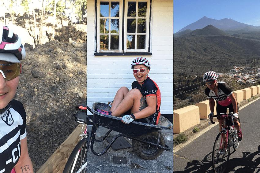 Ingrid Brusokaite - training and relaxing