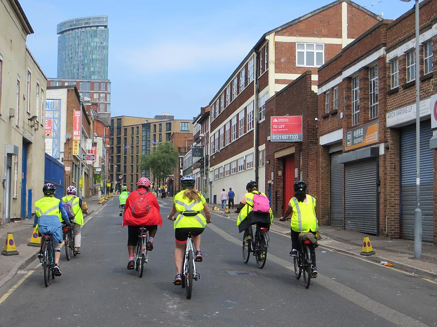 Out on the Let's Ride Birmingham route