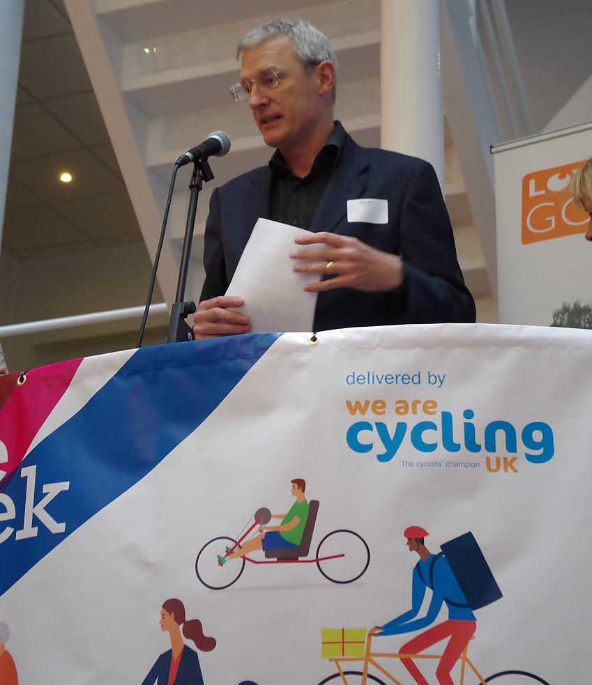 Jeremy Vine at the launch of Bike Week and MPs bike ride