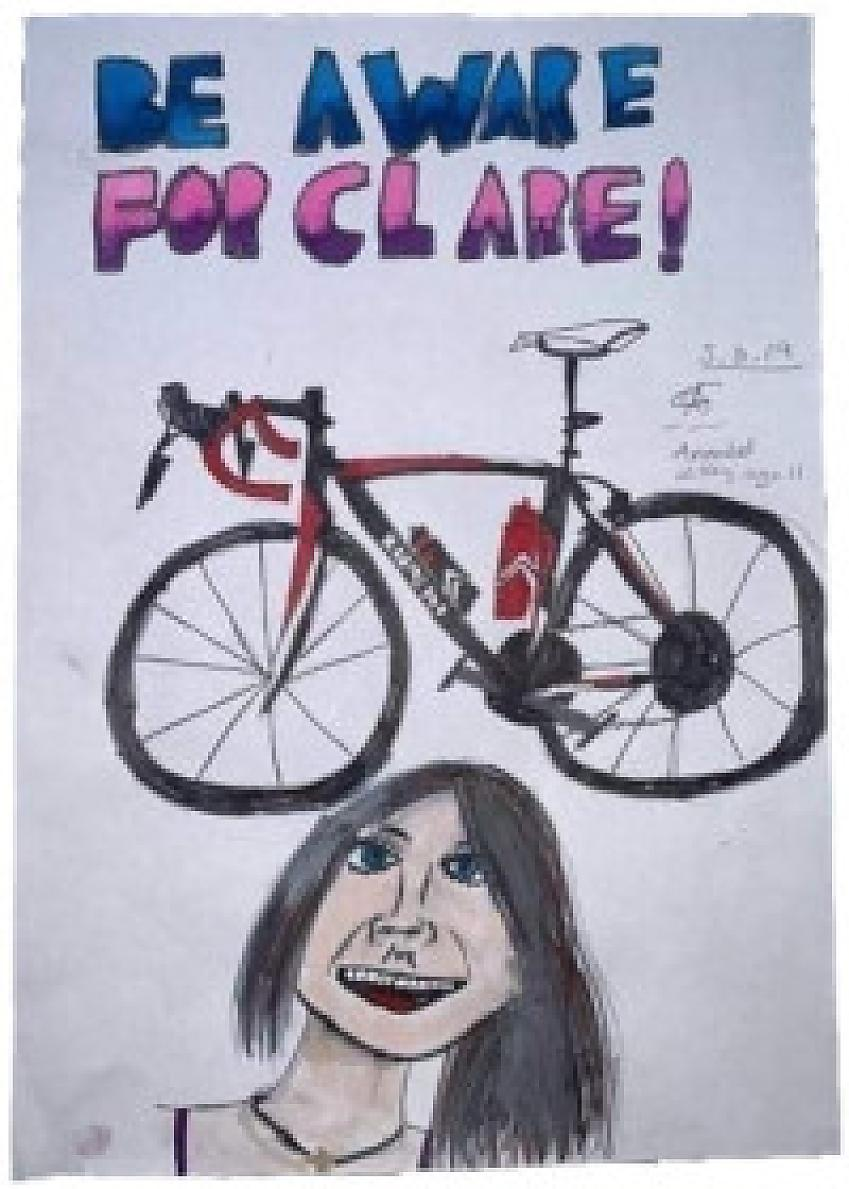 #BeAwareForClare poster