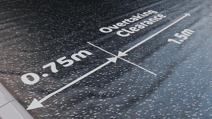 A Cycling UK close pass mat