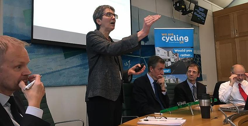 Lynn Sloman from Transport for Quality of Life makes the case for cycling in Parliament