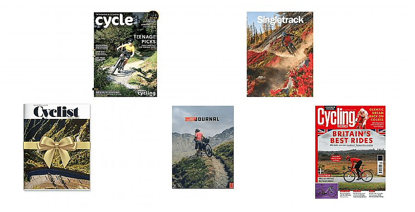 Selection of cycling magazines