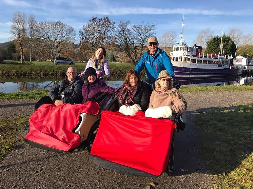 Out on a ride with Cycling Without Age Inverness