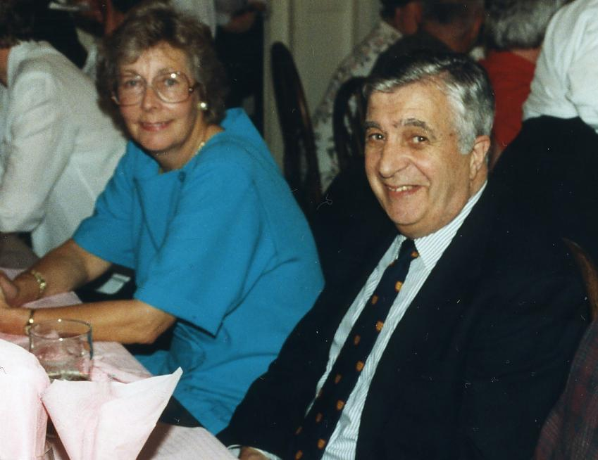 Mike Twigg with his wife Pat in 1994