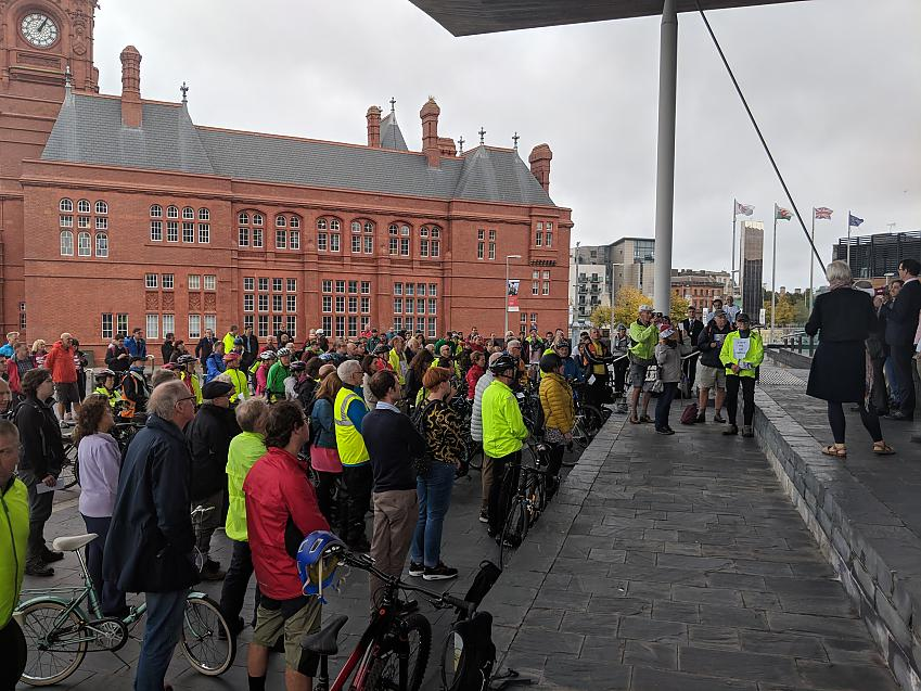Cycle on the Senedd rally on 2 October