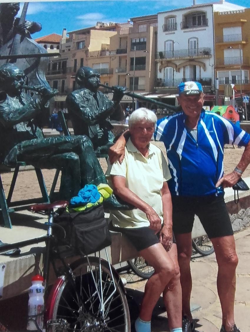 Pamela and Jack in L'Escala, Spain
