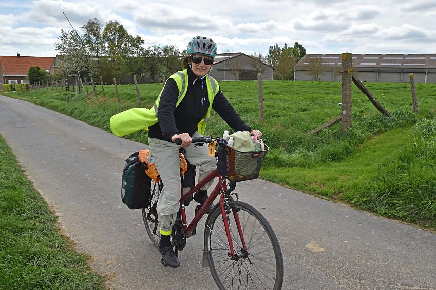 Paula Horton cycling through France