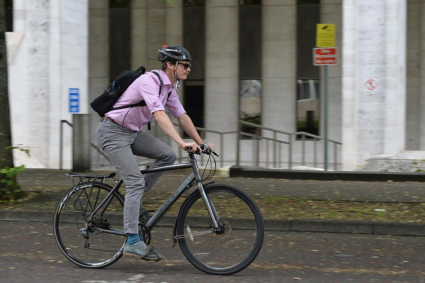 Cycle friendly employer. Photo by Paul Jefferies