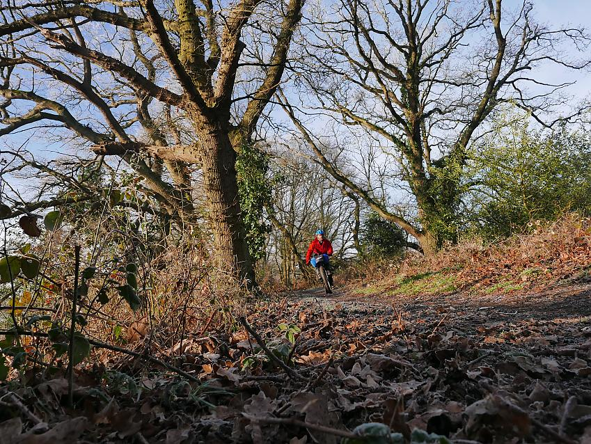 Winter riding in the Surrey Hills