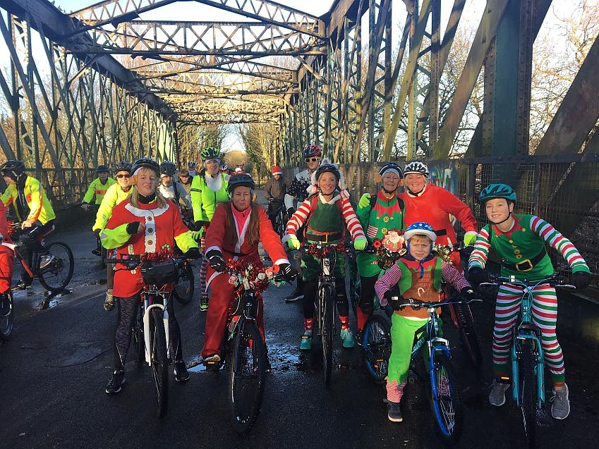 The Santa Cycle out on the Loopline