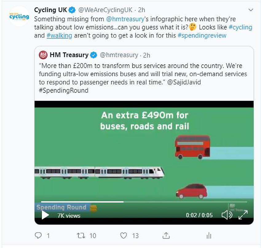HM Treasury tweet