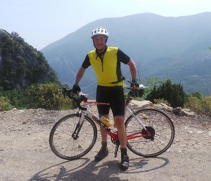 Ted Liddle with road bike