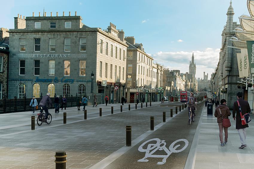 Visualisation of Union Road in Aberdeen