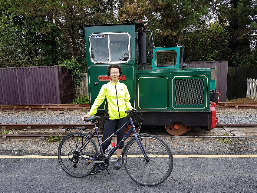 Laura Laker on the Waterford Greenway