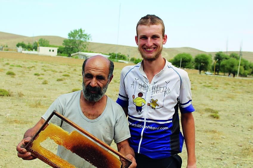 Free honey. Just one example of the hospitality in Iran.