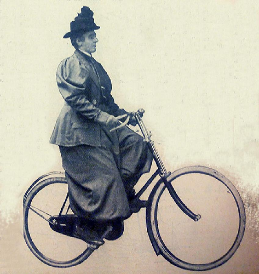 Lady Harberton in rational cycling costume