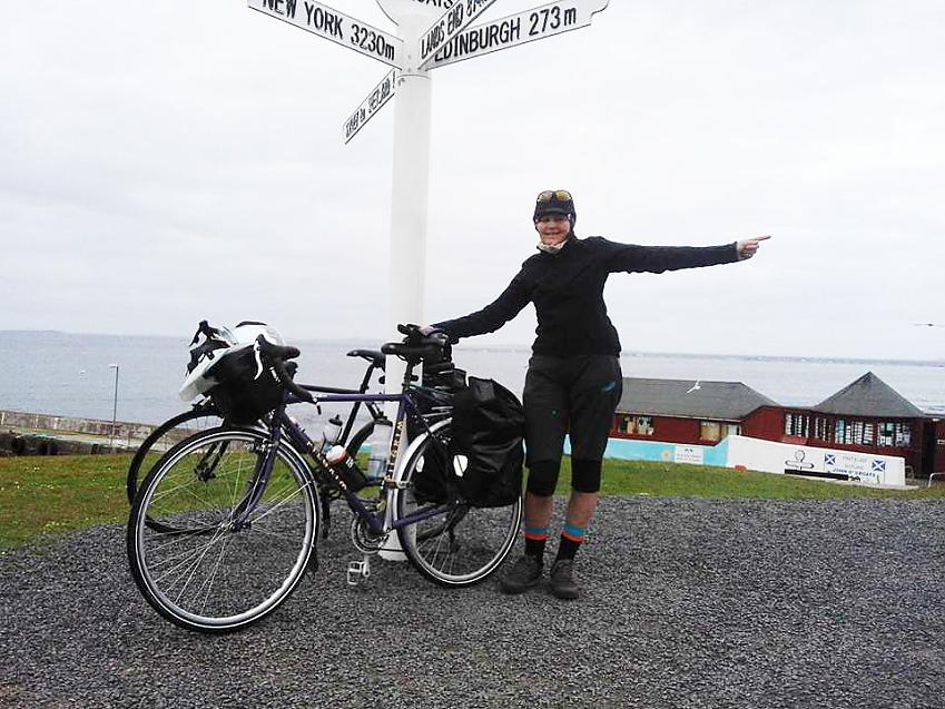 Julie on the LEJOG
