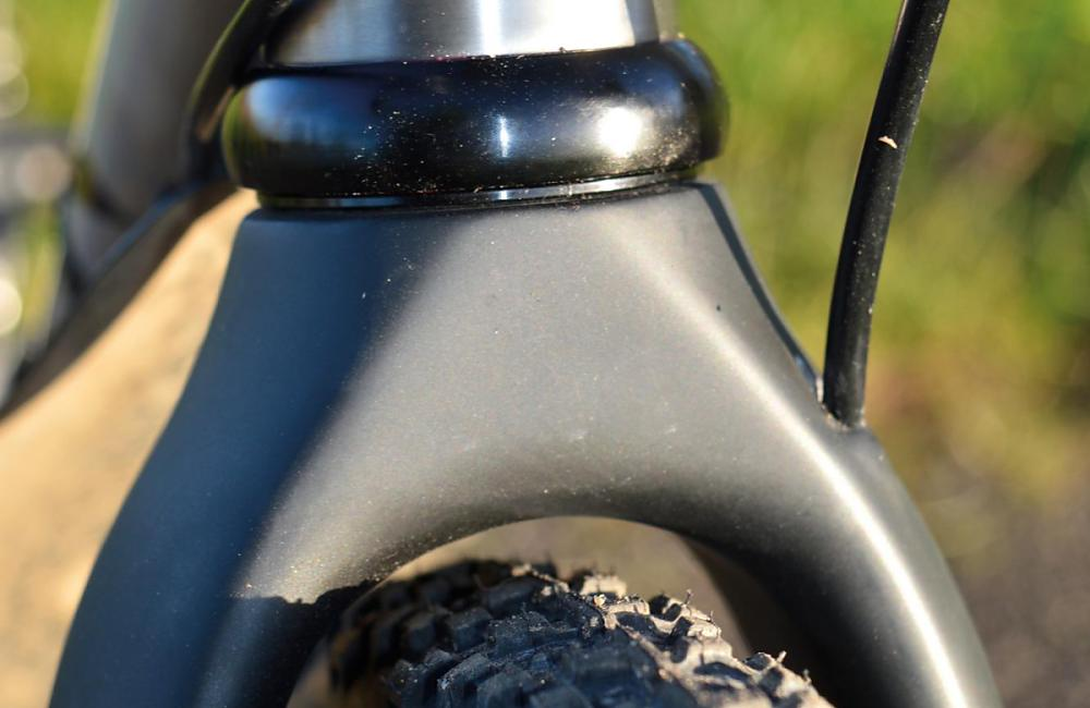 Tight clearance and no hole in the fork crown. If you want a mudguard, ask for the Camino Al fork instead.