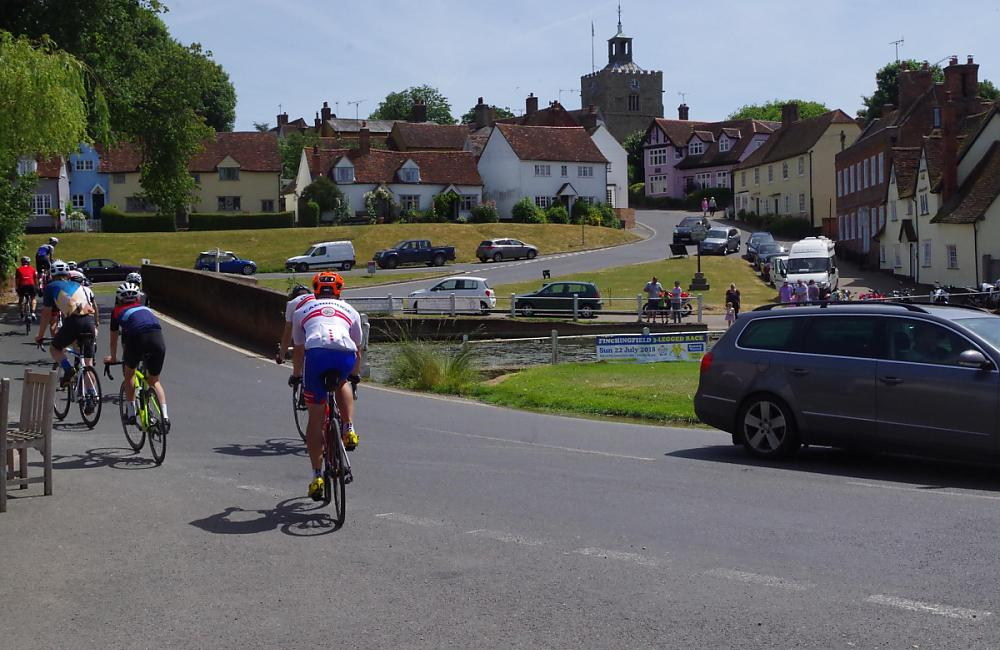 Riders leaving Finchingfield